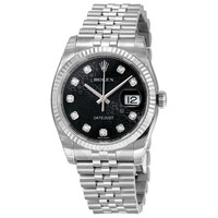 Rolex Datejust Black Dial Automatic Stainless Steel Watch 116234BKJDJ