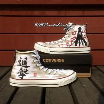 DCCK1IN birthday gifts for anime lover white high top converse hand painted anime sneaker men