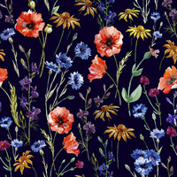 Wonderful Wildflowers Removable Wallpaper