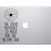 she loved mysteries so much that she became one decal - John Green - Paper Towns Decal - car, wall or laptop decal