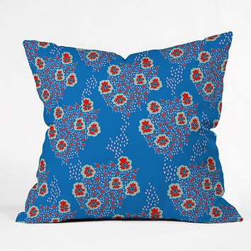 Holli Zollinger Boho Floral Throw Pillow