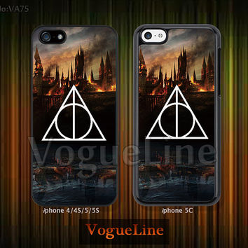 iPhone 5 case iPhone 5c case iPhone 5s case iPhone 4 case iPhone 4s case, Harry Potte Deathly Hallows --VA75