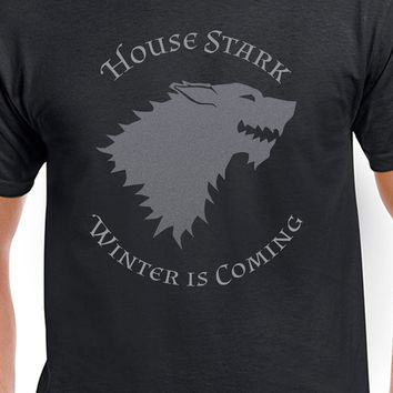 House Stark Winter Is Coming Circular Gray Logo Game Of Thrones Inspired T-Shirt