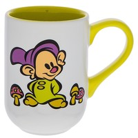 Disney Parks Seven Dwarfs Dopey Cartoon Cutie Ceramic Coffee Mug New