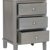 Joe End Table With Storage Drawers French Grey