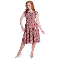 Hell Bunny 50's Retro Pinup Apple and Blossom Darling Francine Dress