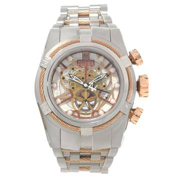Invicta 14428 Men's Jason Taylor Reserve Rose Gold Bezel Skeleton Dial Chronograph Dive Watch