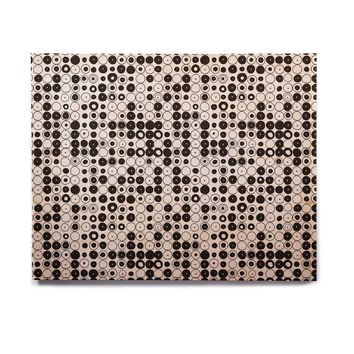 "Nandita Singh ""Black & White Funny Polka Dots"" White Abstract Birchwood Wall Art"
