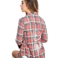 Plaid Dreamcatcher Shirt | Wet Seal