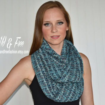 Ladies fashion infinity scarf, Womens scarves, Green scarf, Ladies wrap, Womens shawl,