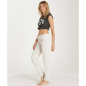 Billabong Women's Dream Team Cozy Fleece Sweatpants | Ice Athletic Grey