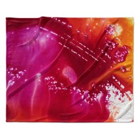 """Malia Shields """"The Color River"""" Red Pink Fleece Throw Blanket"""
