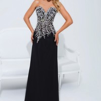 Tony Bowls Le Gala 114521 Beaded A-line Gown