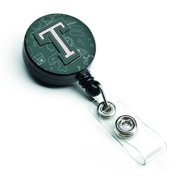 Letter T Back to School Initial Retractable Badge Reel CJ2010-TBR
