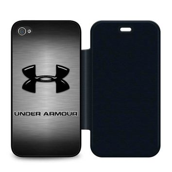 Under Armour Logo Leather Wallet Flip Case iPhone 4 | 4S