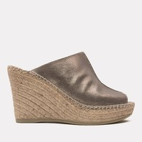 Cici Suede Wedge (Pewter)