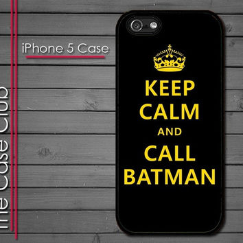 iPhone 5 Rubber Silicone Case - Keep Calm and Call Batman