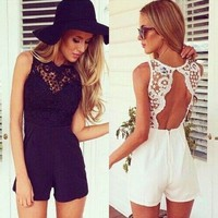 ❤️SOLD OUT❤️Gorgeous Lace Backless Romper