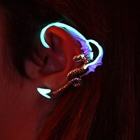 Dragon ear cuff GLOW in the DARK