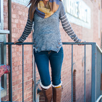 Find Your Way Sweater, Dark Gray