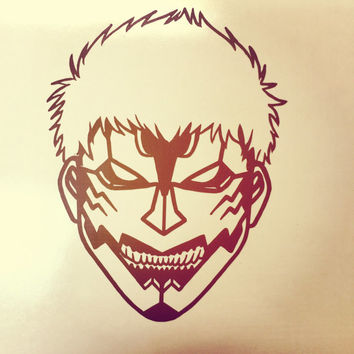 Shingeki No Kyojin ( Attack On Titan) Armored Titan Anime Decal Vinyl Sticker
