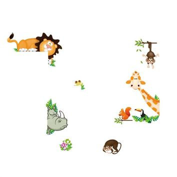 Forest Animals Wall Stickers Removable PVC Mural Art Decals Home Decor Stickers for Kids Baby Room
