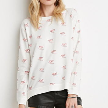 100 Print Pullover Sweater