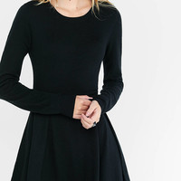 Black Hint Of Cashmere Fit And Flare Dress from EXPRESS
