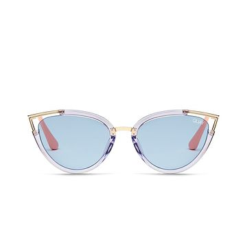 Quay Hearsay Blue Sunglasses / Blue Lenses