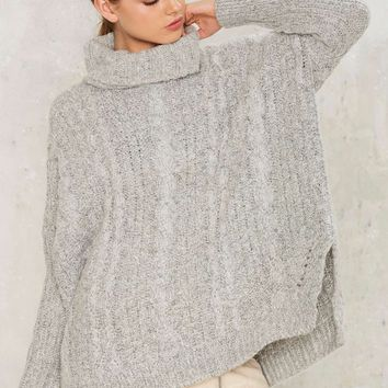 Make Room Cable Knit Sweater
