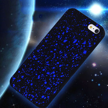 Bling Frosted Starry Sky Glitter Star Hard Case for iPhone 5 5s SE hard Back Case Fluorescence 3D Visual Effect