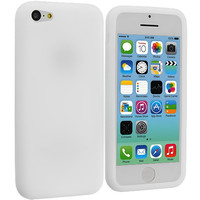 White Silicone Skin Case Cover for Apple iPhone 5C