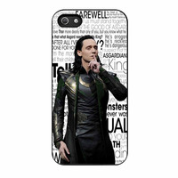 Loki Tom Hidleston Quote iPhone 5s Case
