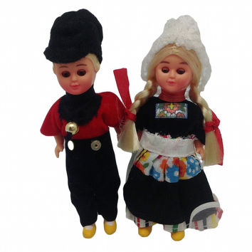 Ethnic Dutch Dolls Costume Boy and Girl