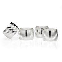 S/4 Ribbed Napkin Rings