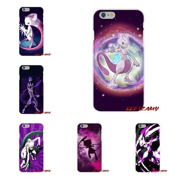 For Samsung Galaxy S3 S4 S5 MINI S6 S7 edge S8 S9 Plus Note 2 3 4 5 8 Pokemon mew mewtwo Pattern Soft Phone Case Silicone