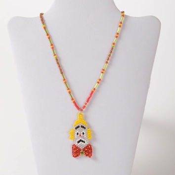 Handmade necklace beaded necklace girls jewelry kids jewelry charm necklace