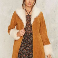 Nasty Gal Stillwater Suede Coat