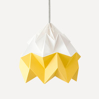 Moth Paper Origami Lamp, Gold Yellow