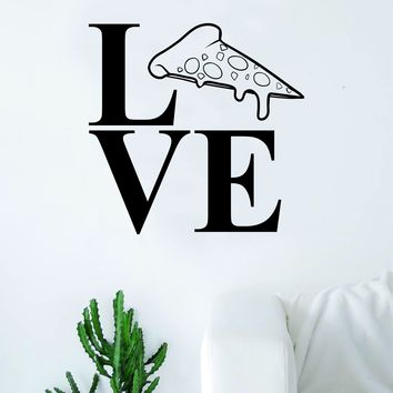 Love Pizza Slice Decal Sticker Wall Vinyl Art Home Decor Teen Nursery Funny Food