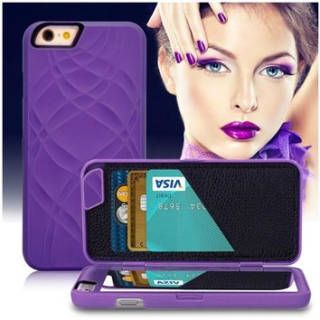 2 in 1 Kickstand Function Hidden Mirror Wallet Case for coque iphone 8 7 Plus 6s Plus 5 5s Accessories Capinhas Card Holder Case