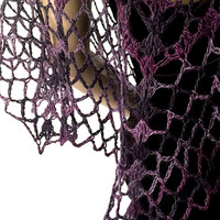 Outlander Purple Mystical Shawl - Swooning Wrap - Crocheted Goth Gothic Fraser Gabaldon FREE SHIPPING