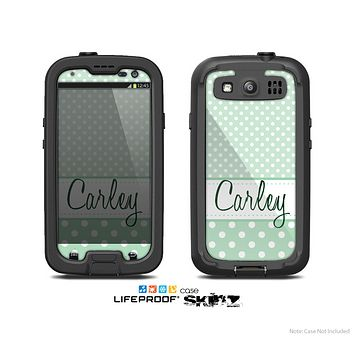 The Subtle Blue Floral Laced Skin For The Samsung Galaxy S3 LifeProof Case