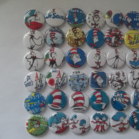 Dr Seuss flat back  Buttons by Funcreations5 on Etsy