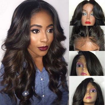 Full Lace Wig  Body Wave Lace  Human Hair Wigs