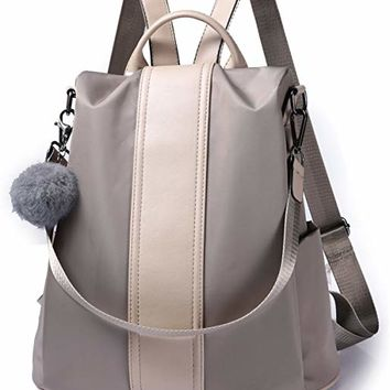 Women Backpack Purse Waterproof Nylon Anti-theft Rucksack Lightweight School Shoulder Bag