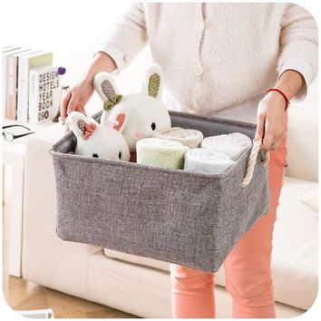 Linen Fabric Storage Baskets