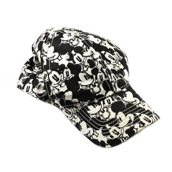 Vintage 1990s 90s Disney Mickey Mouse All Over Print Strapback Retro Streetwear Hat