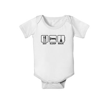 Eat Sleep Rock Design Baby Romper Bodysuit by TooLoud