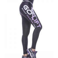 Go Lift Stop Wasting Time tights
